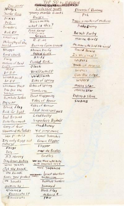 kurt cobain mejores discos lista