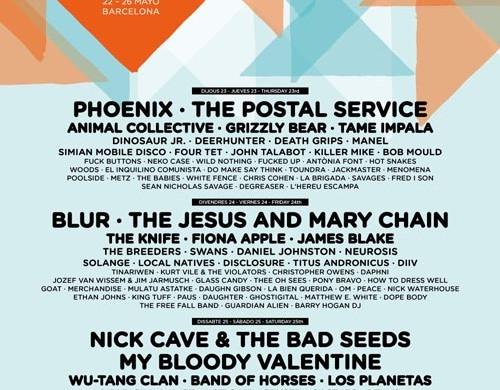 cartel completo primavera sound 2013