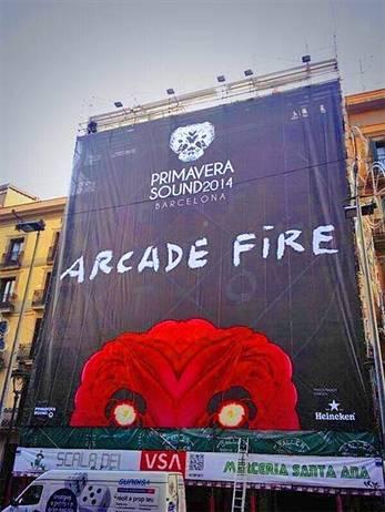Arcade Fire, primer gran bombazo del Primavera Sound 2014