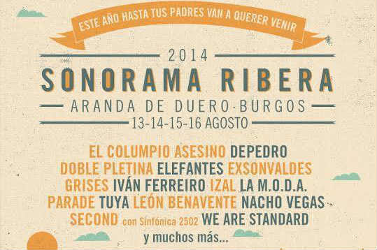 Cartel sonorama 2014 We Are Standard