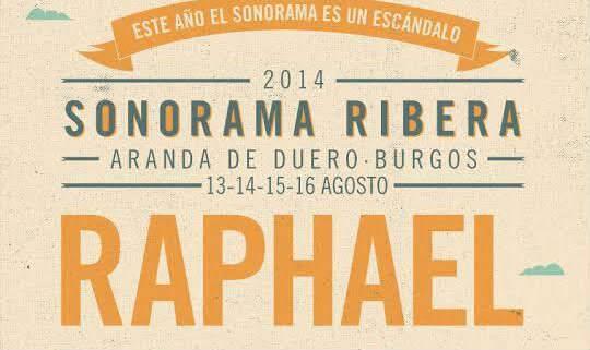 Raphael Sonorama 2014 cartel