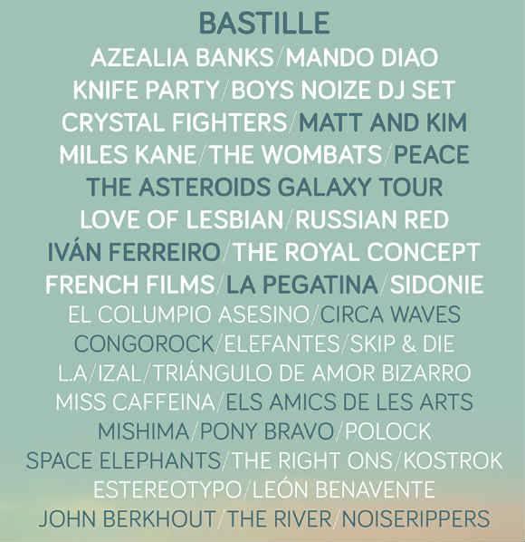 cartel arenal sound 2014 bastille