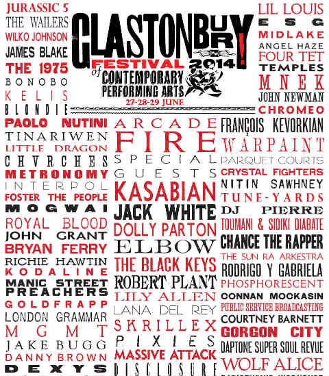 Cartel Glastonbury 2014