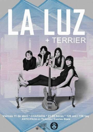 La Luz poster concierto Terrier Charada