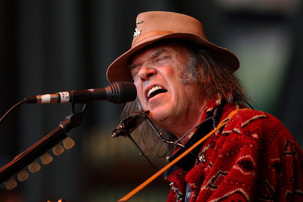 Neil Young estará al frente de Promise Of The Real, una banda en el que milita Lukas Nelson, hijo de Willie Nelson Foto: Justin Sullivan/Getty Images