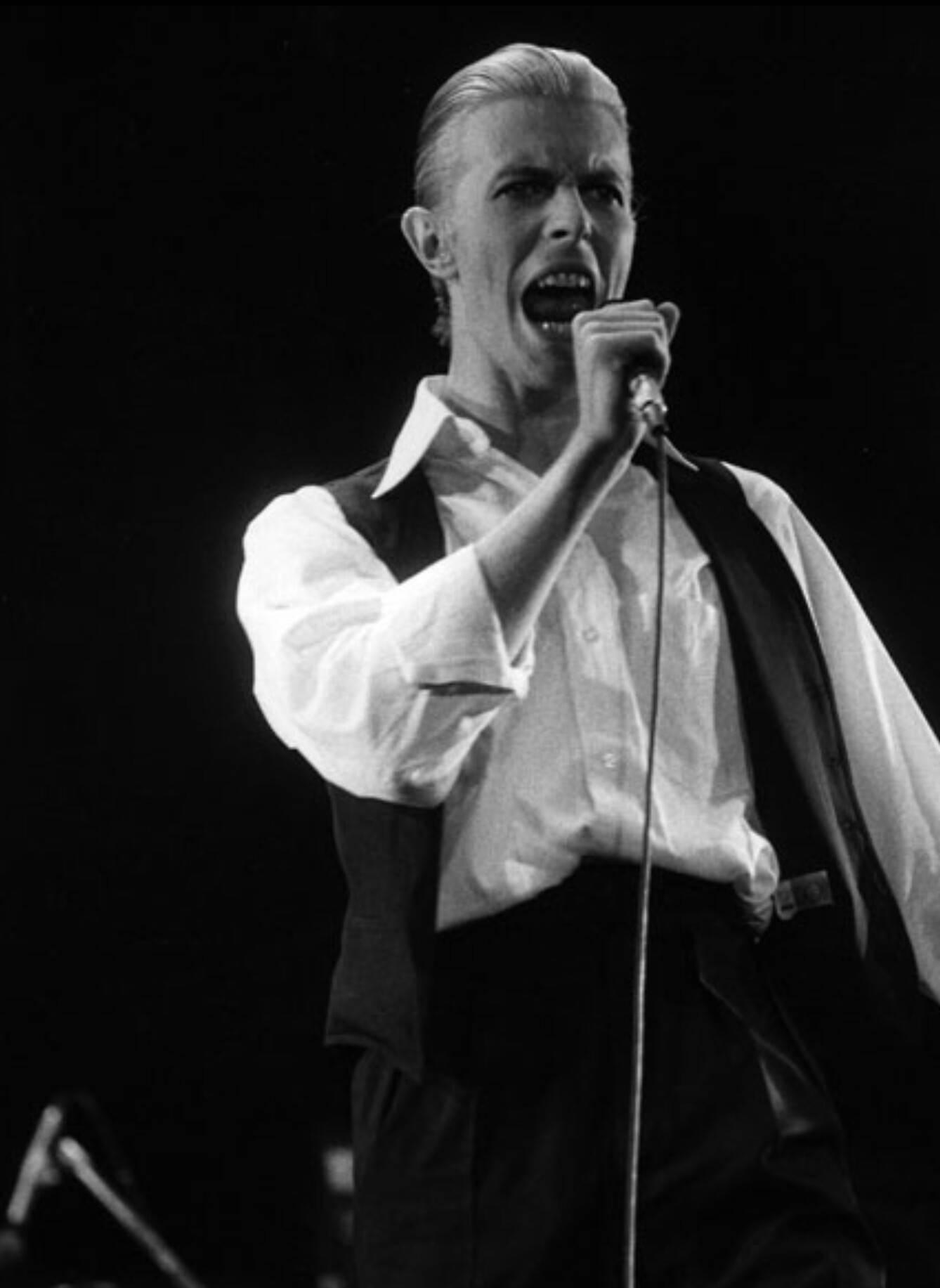El Bowie de la gira de Station To Station es un Bowie oscuro, bien peinado y elegantemente vestido