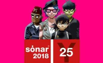 confirmaciones sonar festival 2018 gorillaz