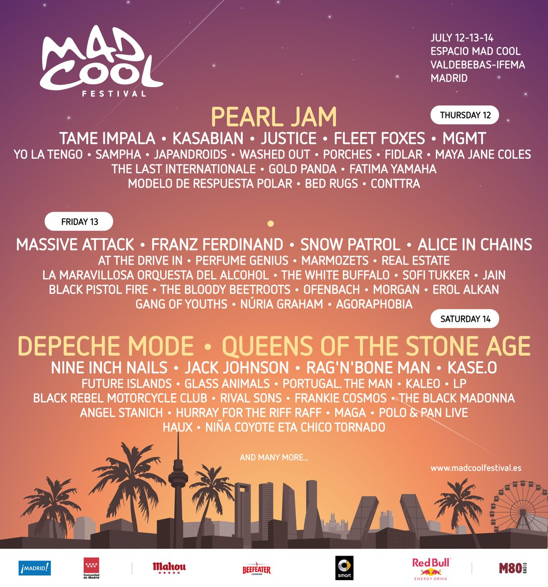 cartel mad cool festival cartel por dias