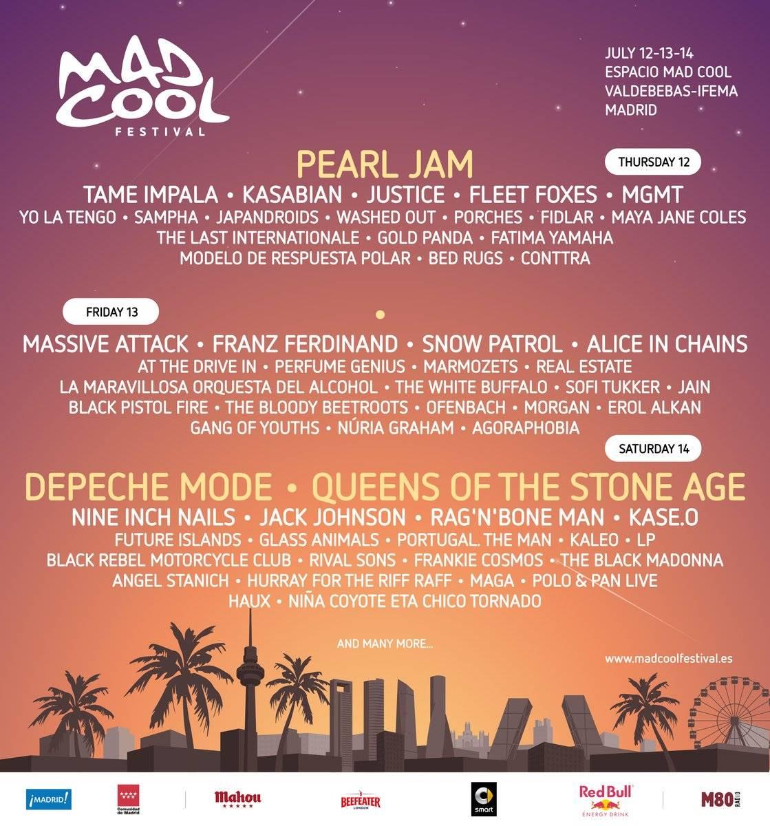 cartel mad cool festival cartel por dias