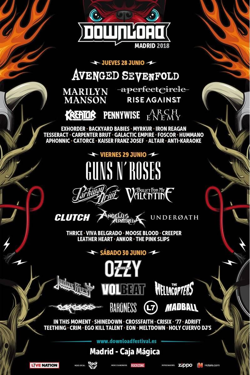 download festival 2018 cartel por dias