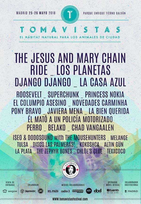 cartel completo tomavistas festival 2018