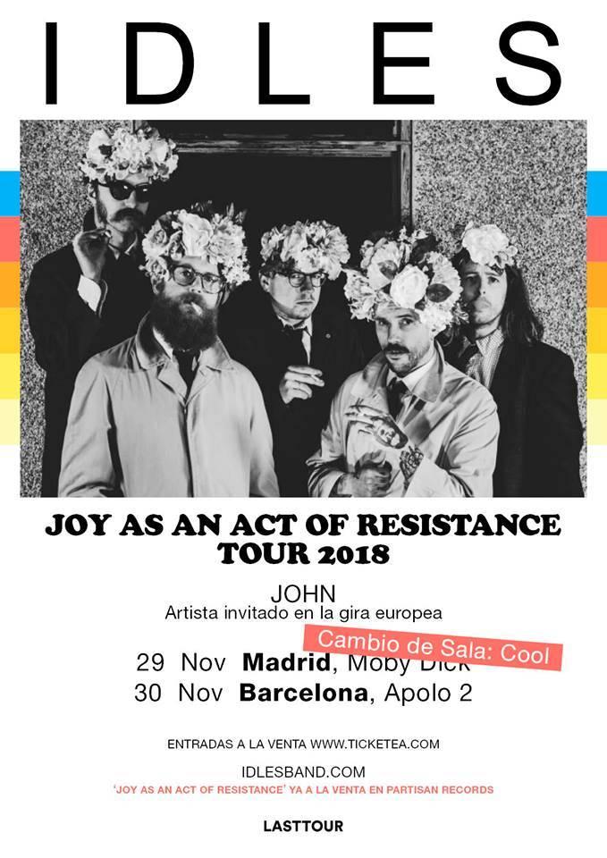 conciertos idles madrid barcelona 2018