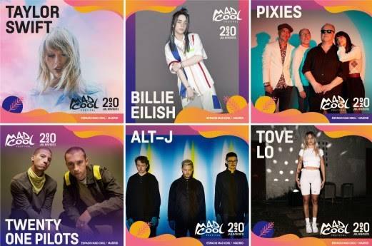 mad cool festival 2020 billie eillish taulor swift twenty one pilots pixies alt-j tove lo